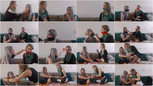 Violet Haze and Luna Grey - Gag testing after sleepover - Full HD 1080p