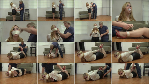 Officeperils Full Collection - Office girls tied up in string, Part 1
