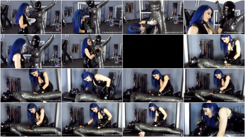 Tight tying punishment and strappado for hawt hawt model in latex HD 1080p