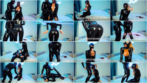 Super tying, spanking and torment for charming whore in latex Full HD 1080p