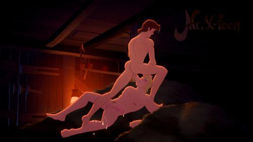 Mr X-Toon - Kristoff and Flynn Rider