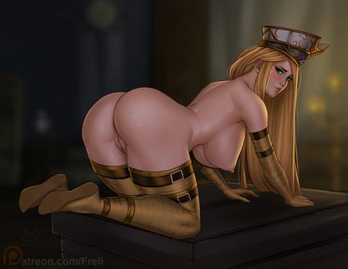 Frelia [artwork,horny girl,horns]