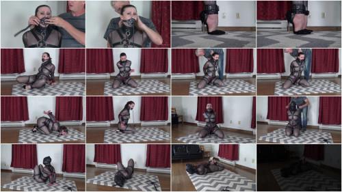 Serene Isley - Black Mesh Catsuit and Leather Bondage