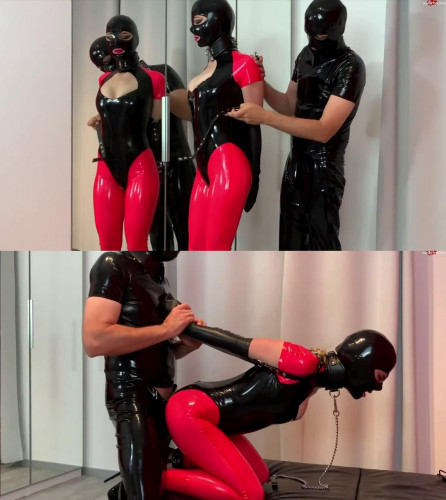 Super bondage, torture and domination for beautiful girl in latex