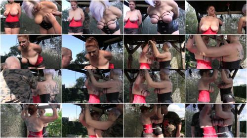 Master of Pain - New Hard Outdoor Tit Adventure for Bettine & Nova Pink