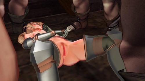 The gangbang of Dia, fallen princess knight - pt.1