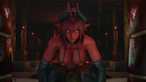 Succubus Doms Elf [2021,3D,All sex]
