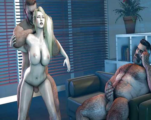 Samus Aran - Metroid - assembly [2017,Futanari,3D,All Sex]