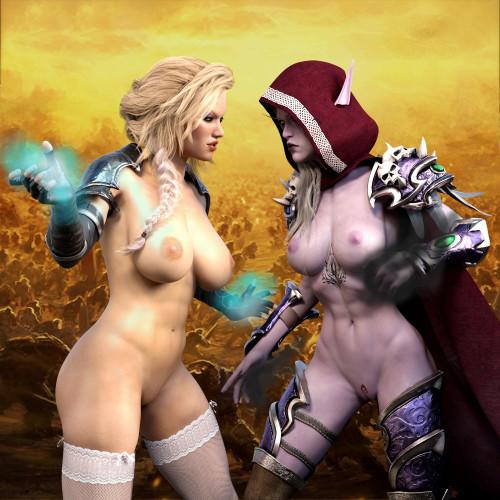 DarkenDen Art [world of warcraft,lingerie,parody]