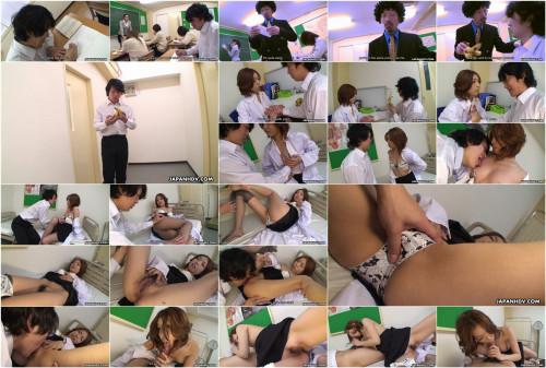 School nurse nahomi asakura makes a patient hard and cum