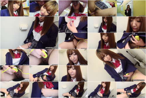 Sexually excited student misaki asuka masturbates at school