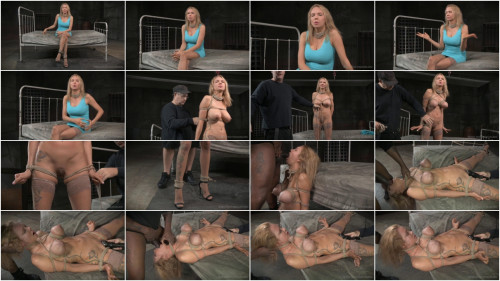 Rain DeGrey Big breasted blonde Rain DeGrey tightly tied, brutal deepthroat on BBC