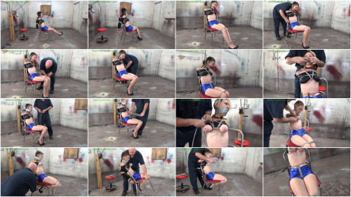HunterSlair - Lexi Lane - Busty neighbor girl tied to a chair for brutal breast