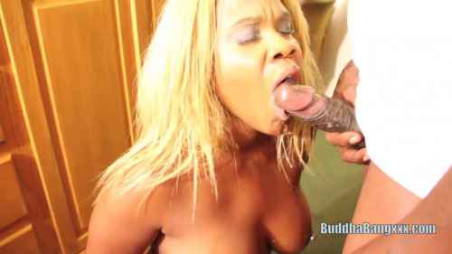 The busty ebony blonde call girl fucked by bbc