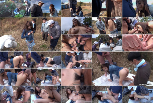 Farmer cutie maki hojo in outdoor farewell bang