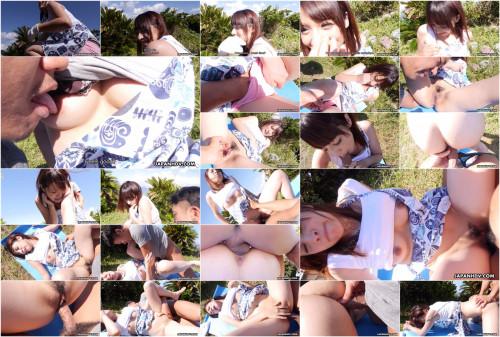 Farmer gal naoh koizumi is drilled in her garden so hard