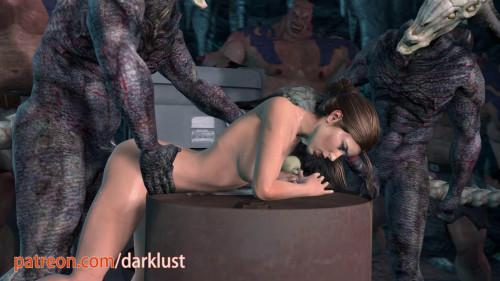 Darklust Fuck With Monsters [2019,Gangbang,Oral,Lara Croft]