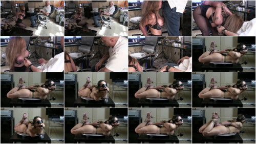 Tight restraint bondage, torment and wrist and ankle bondage for very glamorous floozy HD 1080p