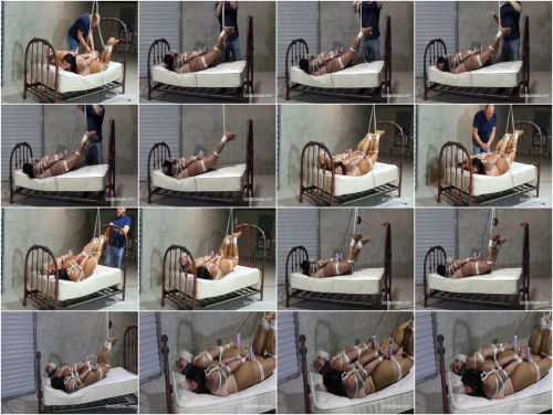 Two Pantyhose MILFs Dangling in a  Semi-Suspended Hogtie