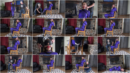 Ayla Aysel-Purple Sheer Catsuit Hogtie