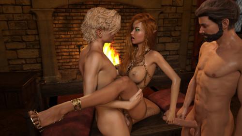 Gator3D - Fairy Tales - Elven MILF vol 1-2 [double penetration,milf,gator3d]