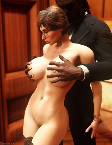 Serious Business [tits fuck,licking pussy,interracial]