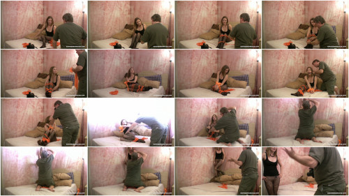 Bdsm Most Popular Pantyhose Model Groped By Pervert Photographer!