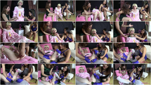 AstroDomina and Lola - Cucumber Reaming for Sissy Jane - HD 720p