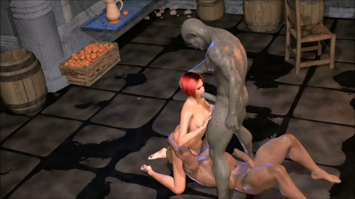 Animated monster gangbang double feature
