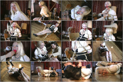 Blond haired blue eyed 40 something milf her first time in bondage!