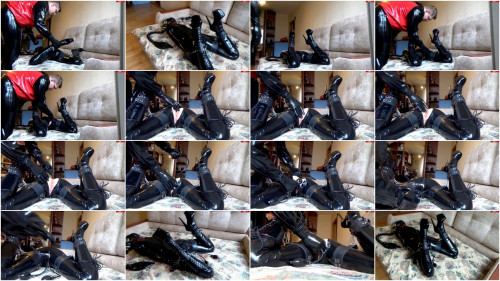 Bondage, hogtie and torture for horny girl in latex part 2 HD 1080