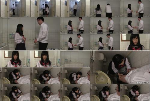 Sayaka aishiro rubs a chap s weenie in the crapper cabin