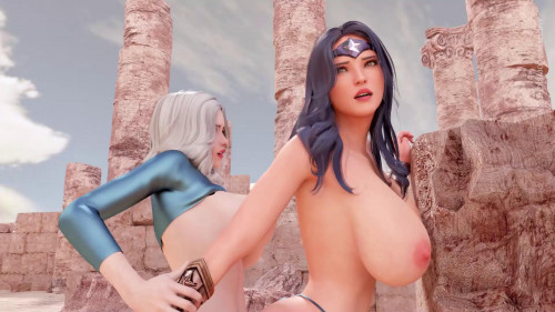 Girl vs Goddess [2021,Huge Cock,3DCG,Oral]
