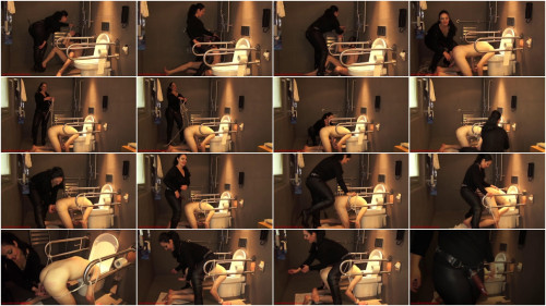 Mistress Ezada Deepthroated, then fucked and ruined with his head in the toilet (2014)