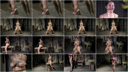 Gia Love Rides the  While Bound in Nylons - Part 4