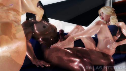 Yacht Party [2016,Orgy,Futanari,3DCG]
