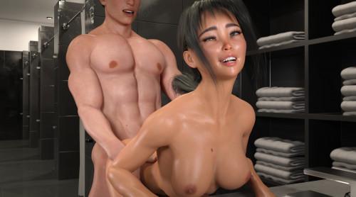 Power Vacuum [big tits,3D Porn Comic,groping]