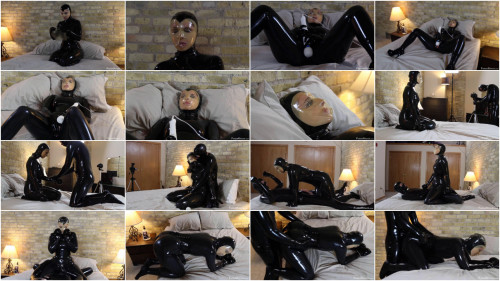 Super restraint bondage, domination and torment for sexy floozy in latex