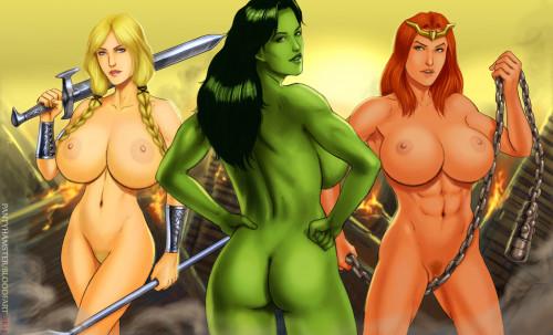 BE and Fantasy Morphs [dark skin,elf,yuri]