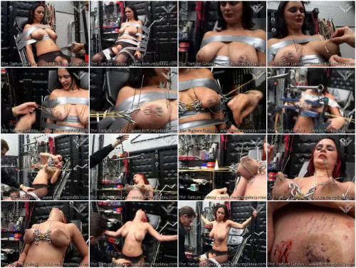 Anita Stapling of the tits, Large steel hooks, Steel Screwer - Torture Galaxy