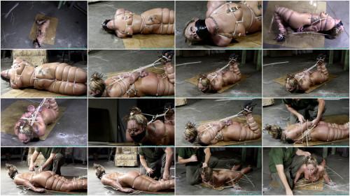 Bondage, strappado, hogtie and spanking for naked bitch part 3