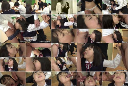 Sexy schoolgirl acquires a facial at school