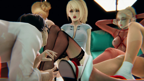 H4r3m - Blonde Heaven - Foreplay [group,harem,handjob]