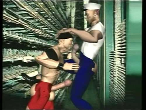 Trick Fick [2009,3D Animation,Oral,Muscle Men]