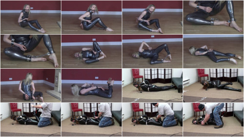 Super bondage, domination and hogtie for young girl
