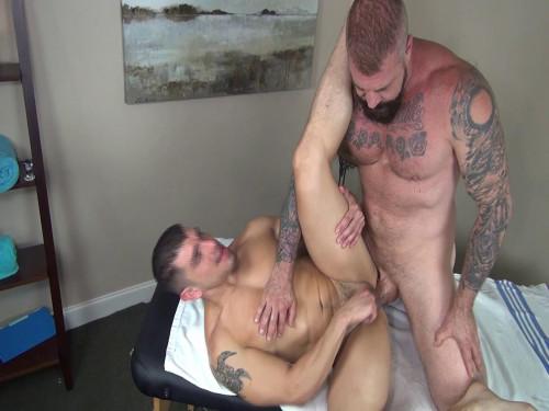 Dad's Bareback Massage Scene 3 - Jeremy Spreadums & Rocco Steele