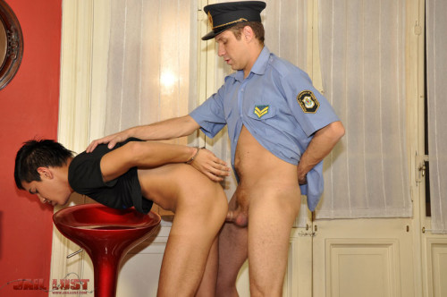 JL - Twinky spy gets anal punishment from horny gay cop