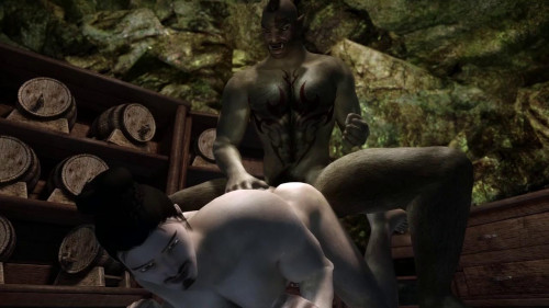 Skyrim: Koji the Sex Worker 3D Animation