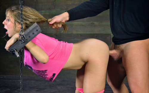 Little Chastity Lynn is roughly fucked in pink - HD 720p