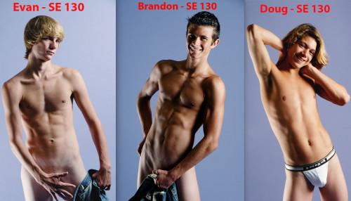 3 Models Brandon & Doug & Evan ModelTeenz Sets